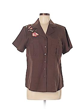 Bogari Short Sleeve Button-Down Shirt Size S