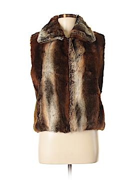 Nordstrom Faux Fur Vest Size Sm - Med