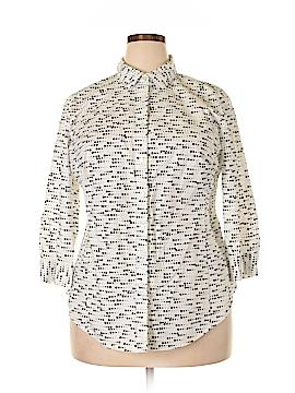Worthington 3/4 Sleeve Button-Down Shirt Size 0X (Plus)