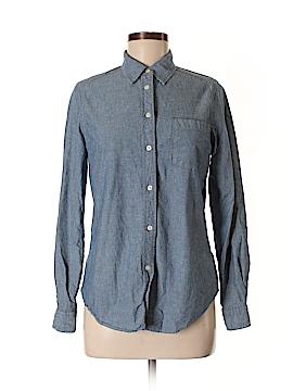 Mi ami Long Sleeve Button-Down Shirt Size M