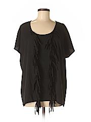 K Dash Women Short Sleeve Blouse Size M