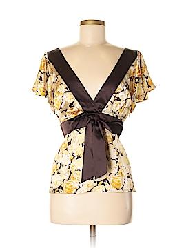 Banana Republic Short Sleeve Silk Top Size XL