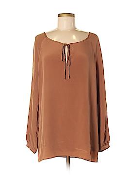 Kain Label Long Sleeve Silk Top Size M