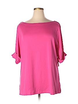 Karen Walker Short Sleeve T-Shirt Size 3X (Plus)