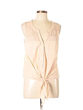 Daniel Rainn Sleeveless Button-Down Shirt Size L