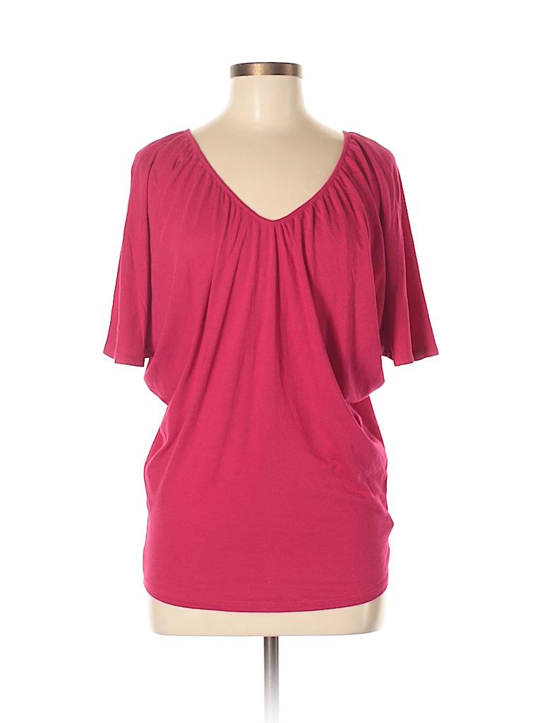 54af8b50ec8540 Express Solid Red Short Sleeve T-Shirt Size S (Petite) - 95% off ...