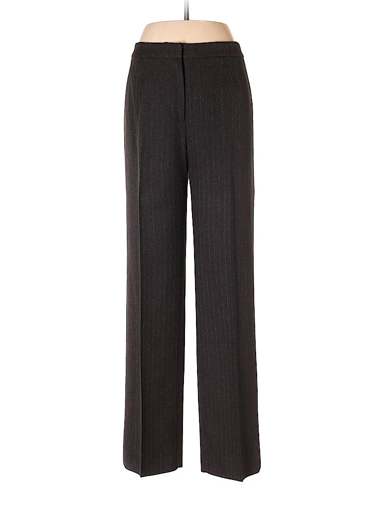 Evan Picone 100 Polyester Stripes Black Dress Pants Size 8 80