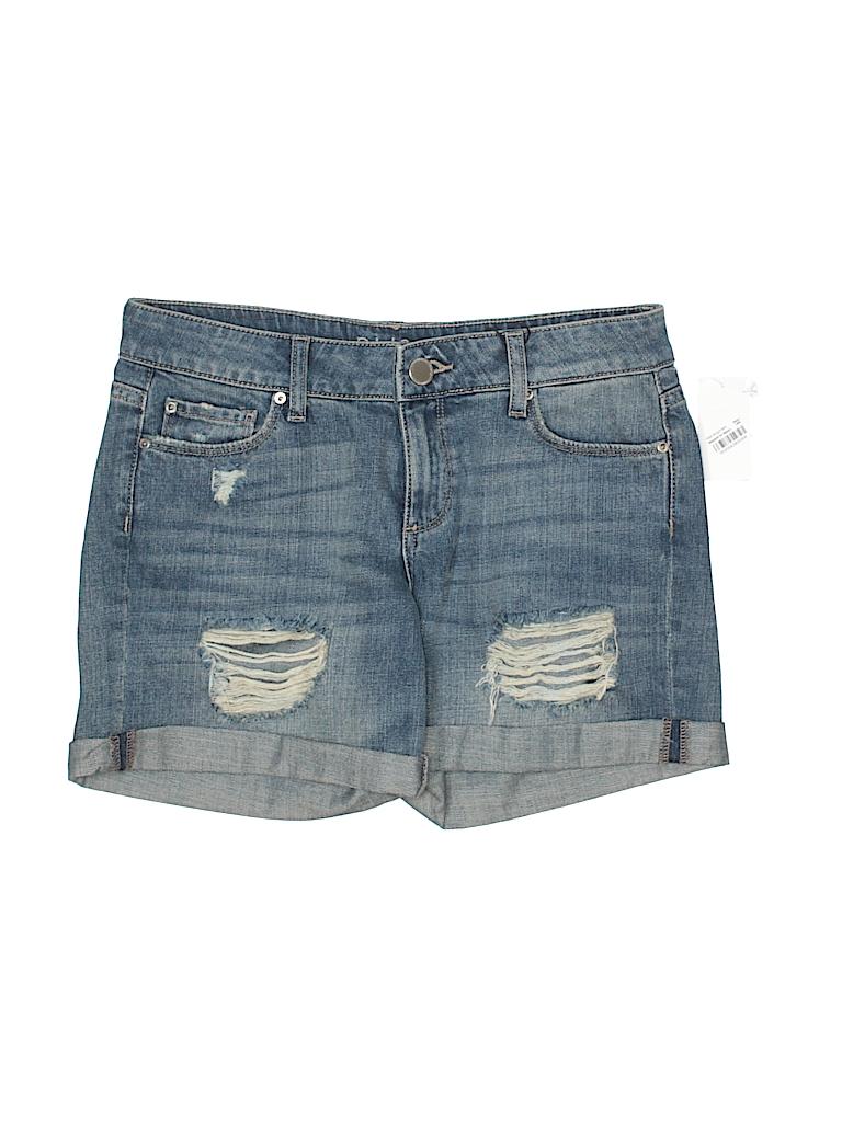 Dl1961 Maternity Cotton Denim Shorts Products T Blue
