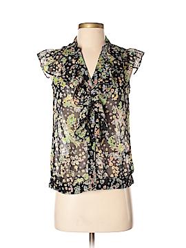 Zinc Sleeveless Button-Down Shirt Size S