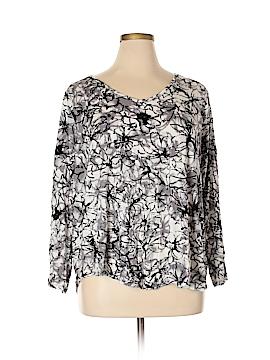Simply Vera Vera Wang Long Sleeve T-Shirt Size 2X (Plus)