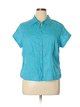 Relativity Short Sleeve Button-Down Shirt Size 2X (Plus)