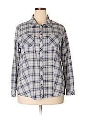 DressBarn Women Long Sleeve Button-Down Shirt Size 2X (Plus)