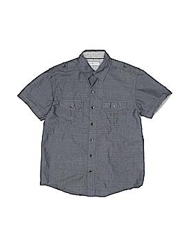 Pd&c Short Sleeve Button-Down Shirt Size 8