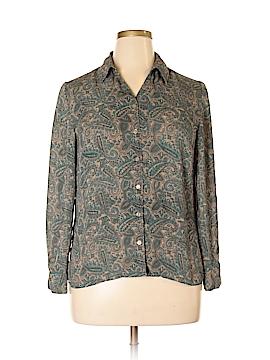 Norton McNaughton Long Sleeve Blouse Size 14 (Petite)
