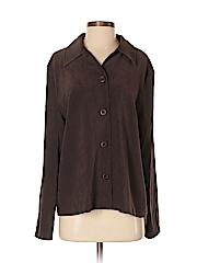 Briggs New York Women Long Sleeve Button-Down Shirt Size M