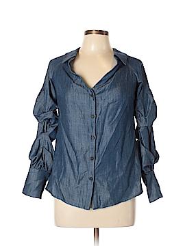 Intermix Long Sleeve Button-Down Shirt Size L