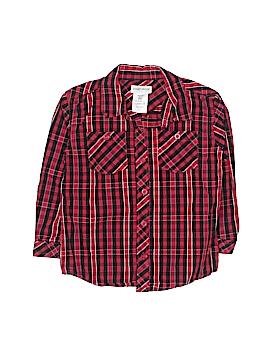 Toughskins Long Sleeve Button-Down Shirt Size 4T