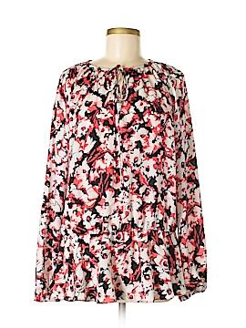 Ellen Tracy Long Sleeve Blouse Size L