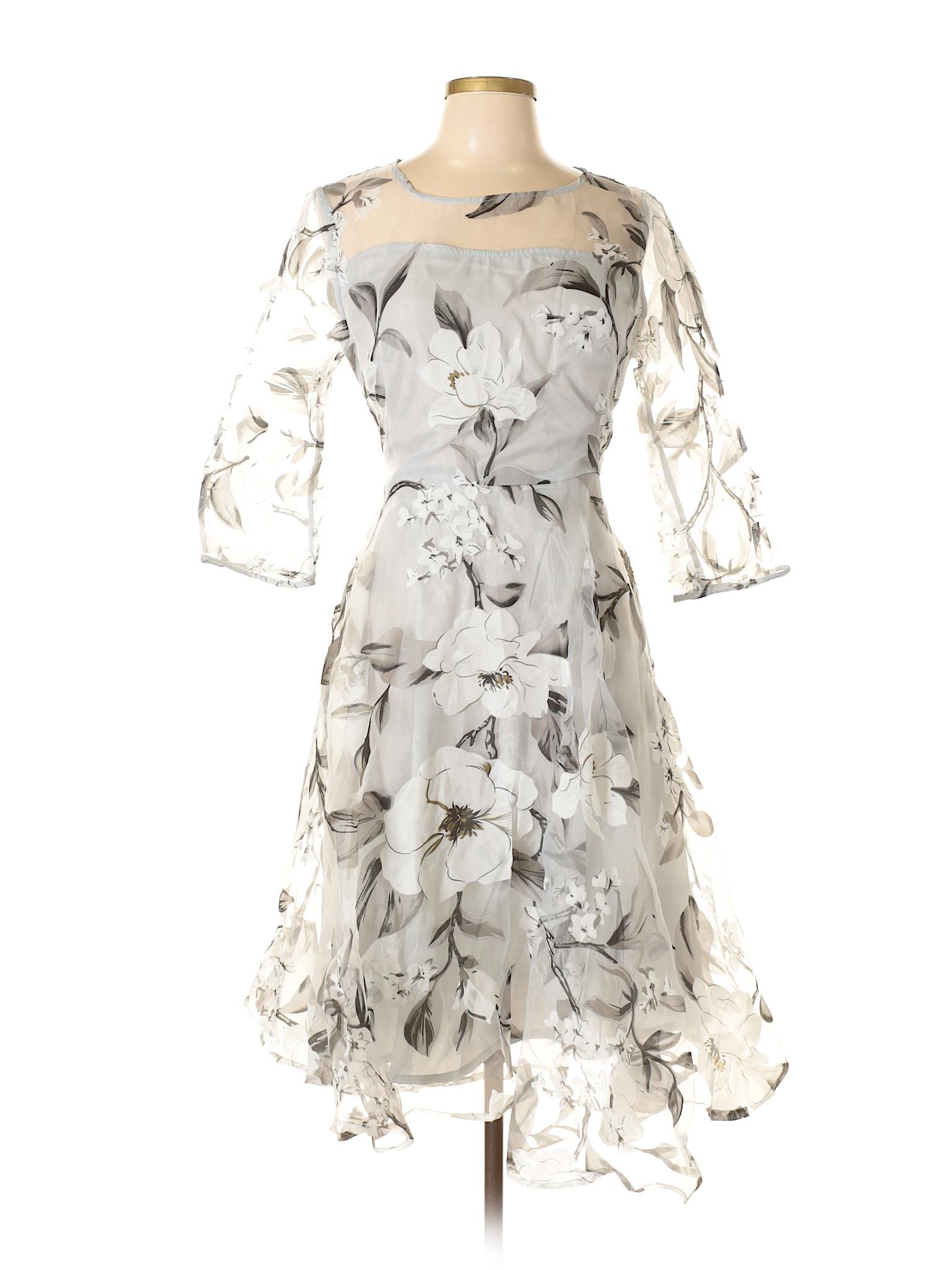 8c044d7a04 Fashion Mia 100% Cotton Print Gray Cocktail Dress Size XL - 63% off ...
