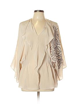 Baraschi 3/4 Sleeve Silk Top Size L