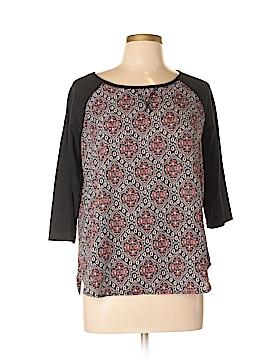 Hippie Rose 3/4 Sleeve Blouse Size L