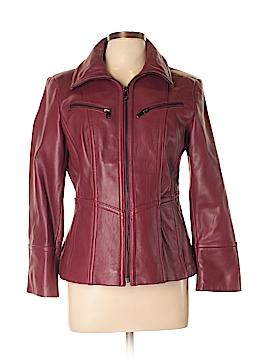 Jones New York Leather Jacket Size L (Petite)