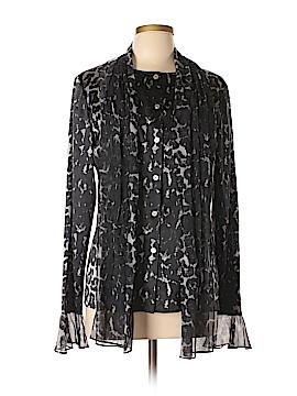 St. John Long Sleeve Silk Top Size 10