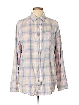 Current/Elliott Long Sleeve Button-Down Shirt Size Lg (3)