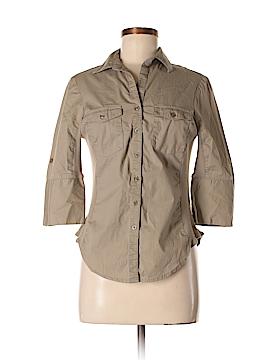 Harve Benard 3/4 Sleeve Button-Down Shirt Size S