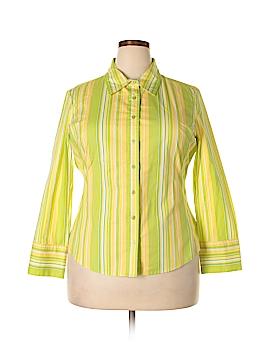 Metrostyle Long Sleeve Button-Down Shirt Size 18 (Plus)