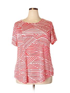 JM Collection Short Sleeve Top Size 1X (Plus)