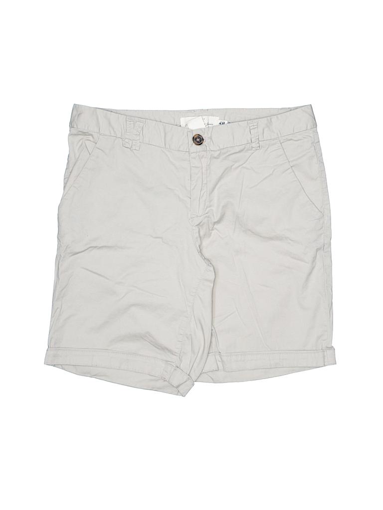 H&M L.O.G.G. Women Khaki Shorts Size 6