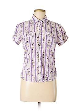 Overdrive Short Sleeve Button-Down Shirt Size M