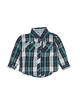 Toughskins Long Sleeve Button-Down Shirt Size 12 mo