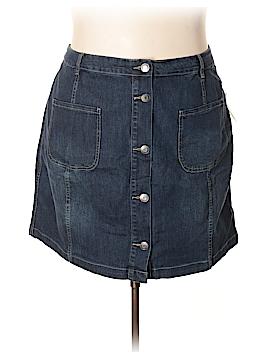 Eloquii Denim Skirt Size 24 (Plus)