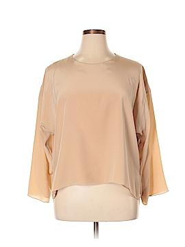Shamask Long Sleeve Silk Top Size XL (3)