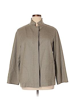 Nina Mclemore Women Wool Coat Size 14