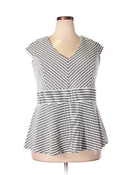 City Chic Short Sleeve Top Size 22 Plus (L) (Plus)