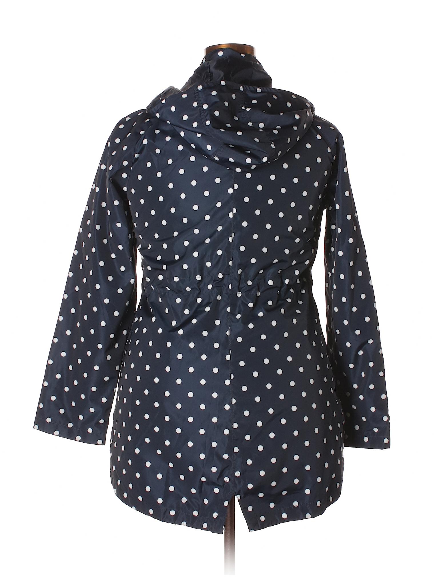 0231a7b56 Merona 100% Polyester Polka Dots Dark Blue Raincoat Size XL - 55 ...