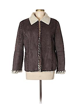 Mechant Faux Leather Jacket Size L