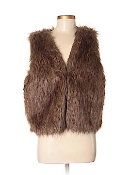 WD.NY Faux Fur Vest Size M