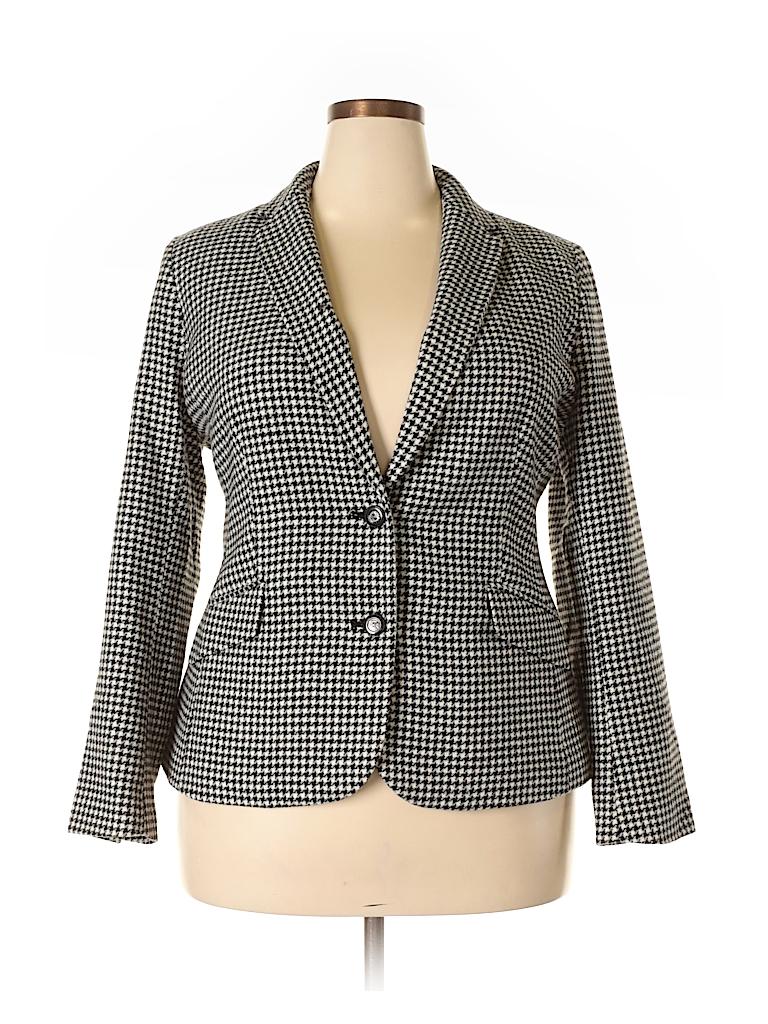 1dd3b75b28a Charter Club Houndstooth Black Blazer Size 18 (Plus) - 68% off