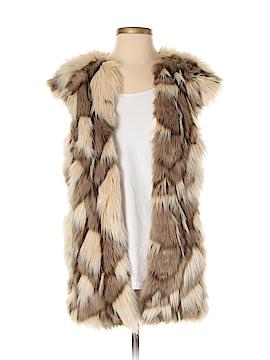 Zara Basic Faux Fur Vest Size S
