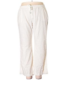 St. John's Bay Linen Pants Size 1X (Plus)