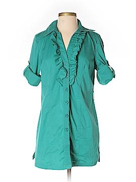 Alfani 3/4 Sleeve Button-Down Shirt Size 4