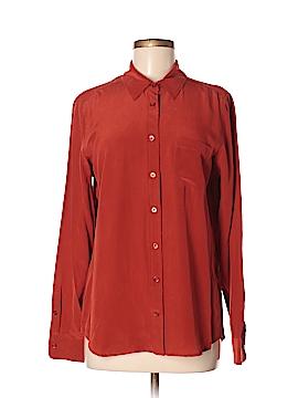 Equipment Long Sleeve Blouse Size M