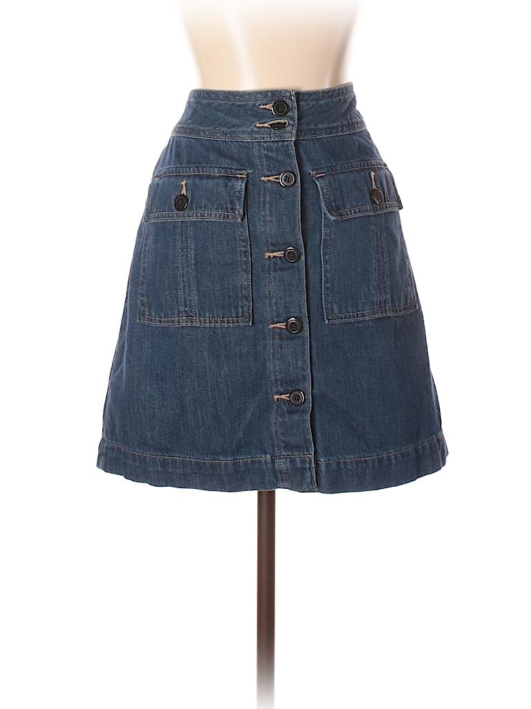 ae2699984 Gap 100% Cotton Solid Dark Blue Denim Skirt 27 Waist - 80% off   thredUP