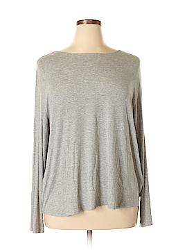 Joan Vass Long Sleeve T-Shirt Size 2X (Plus)