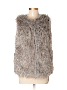 Merona Faux Fur Vest Size S