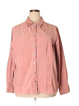 Worthington Long Sleeve Button-Down Shirt Size 22 - 24 (Plus)